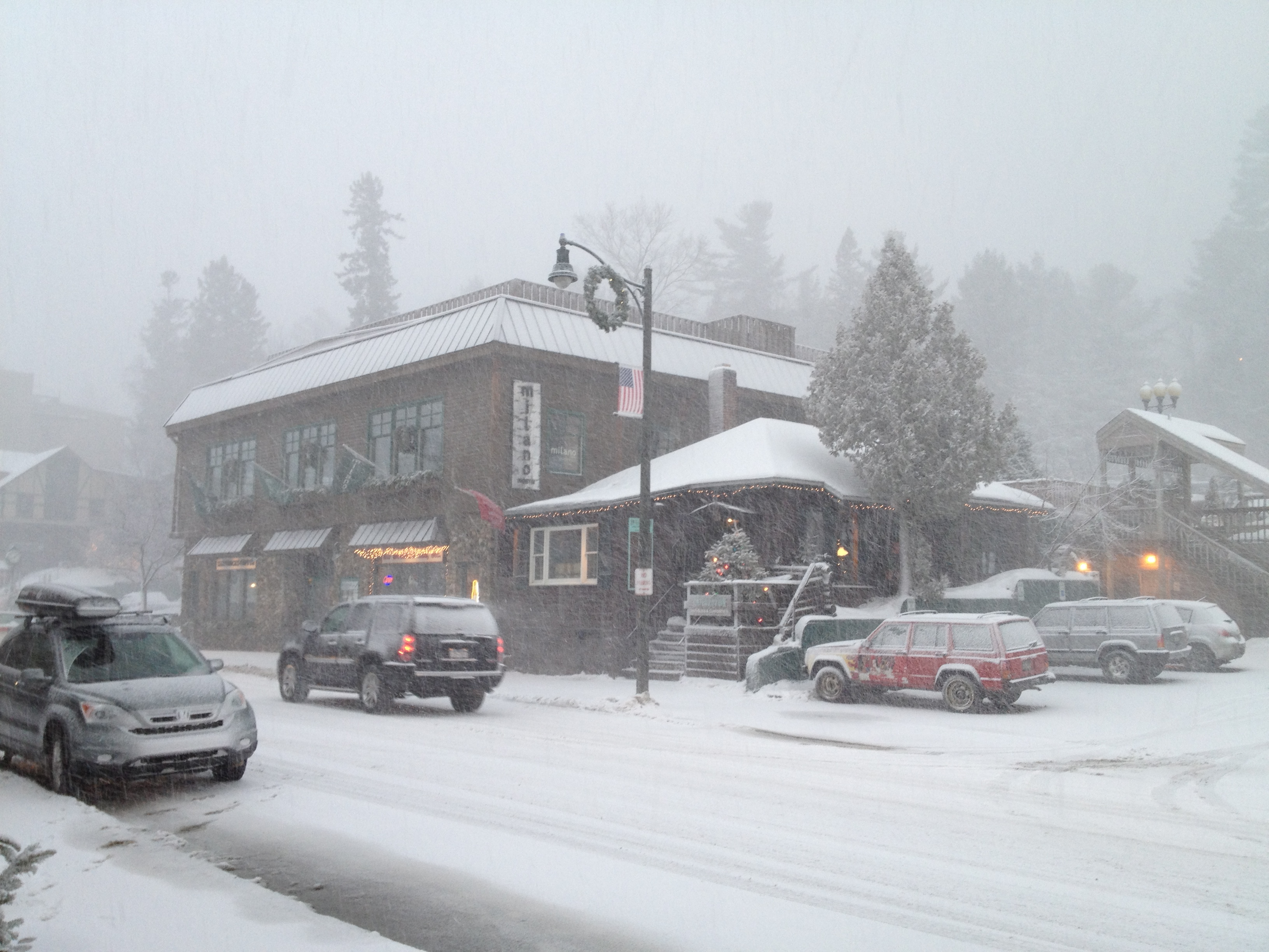 Snow Morning on Main St., Lake Placid