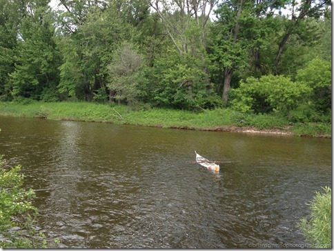 Abandon Canoe on Ausable River in Upper Jay, NY