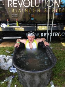 Nothing like an post-race ice bath! Ahhh!