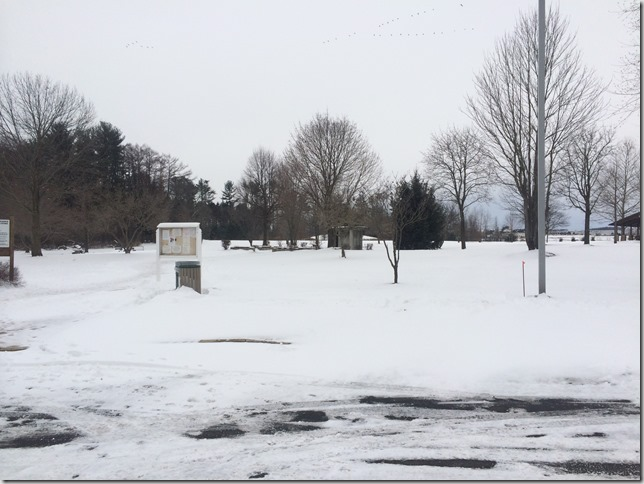 A snowy Bob Rodale Fitness Park