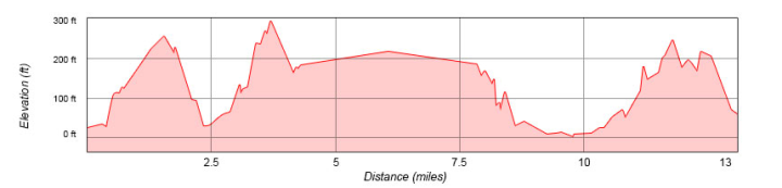 San Francisco Rock 'n' Roll Half Marathon Elevation Profile