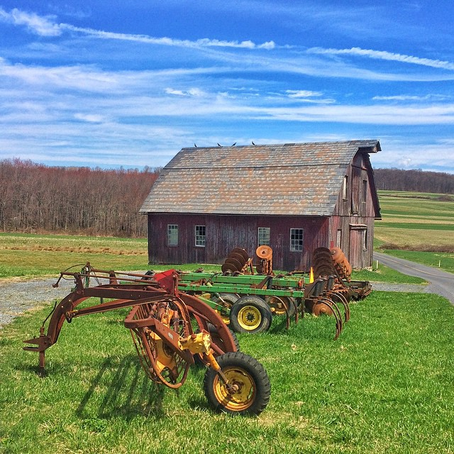Barn and some farm equipment off of Huffs Church Road