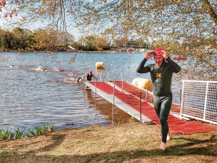 NJ Devilman Half 2015 Swim Exit