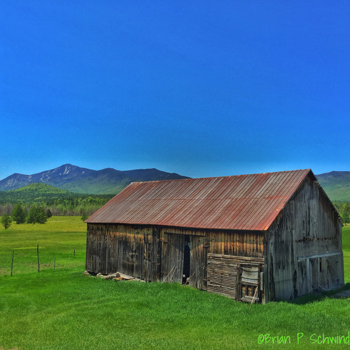 Old Barn between Upper Jay and Wilmington with Whiteface in the background
