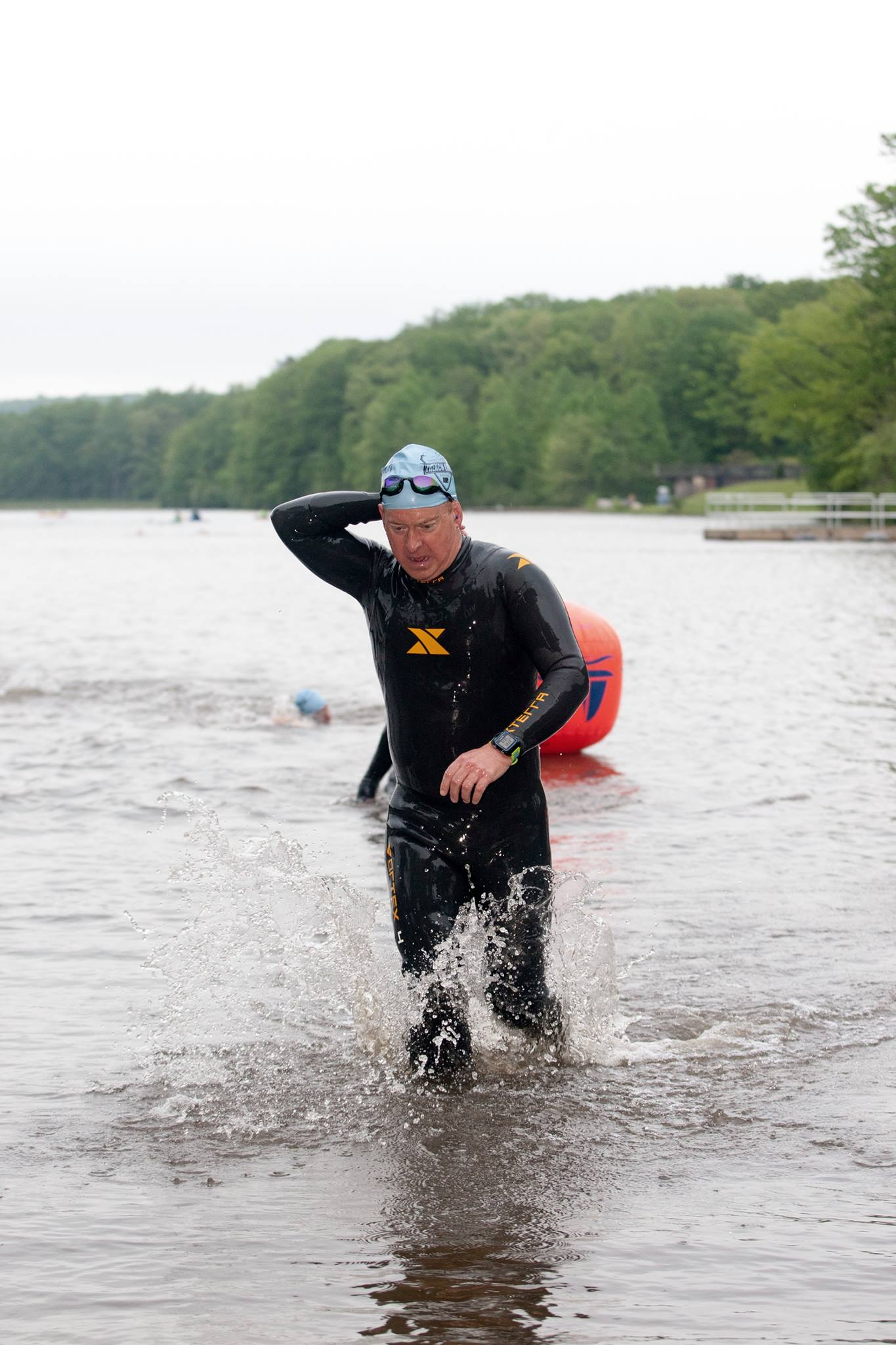 French Creek Olympic Triathlon 2016-Swim Exit