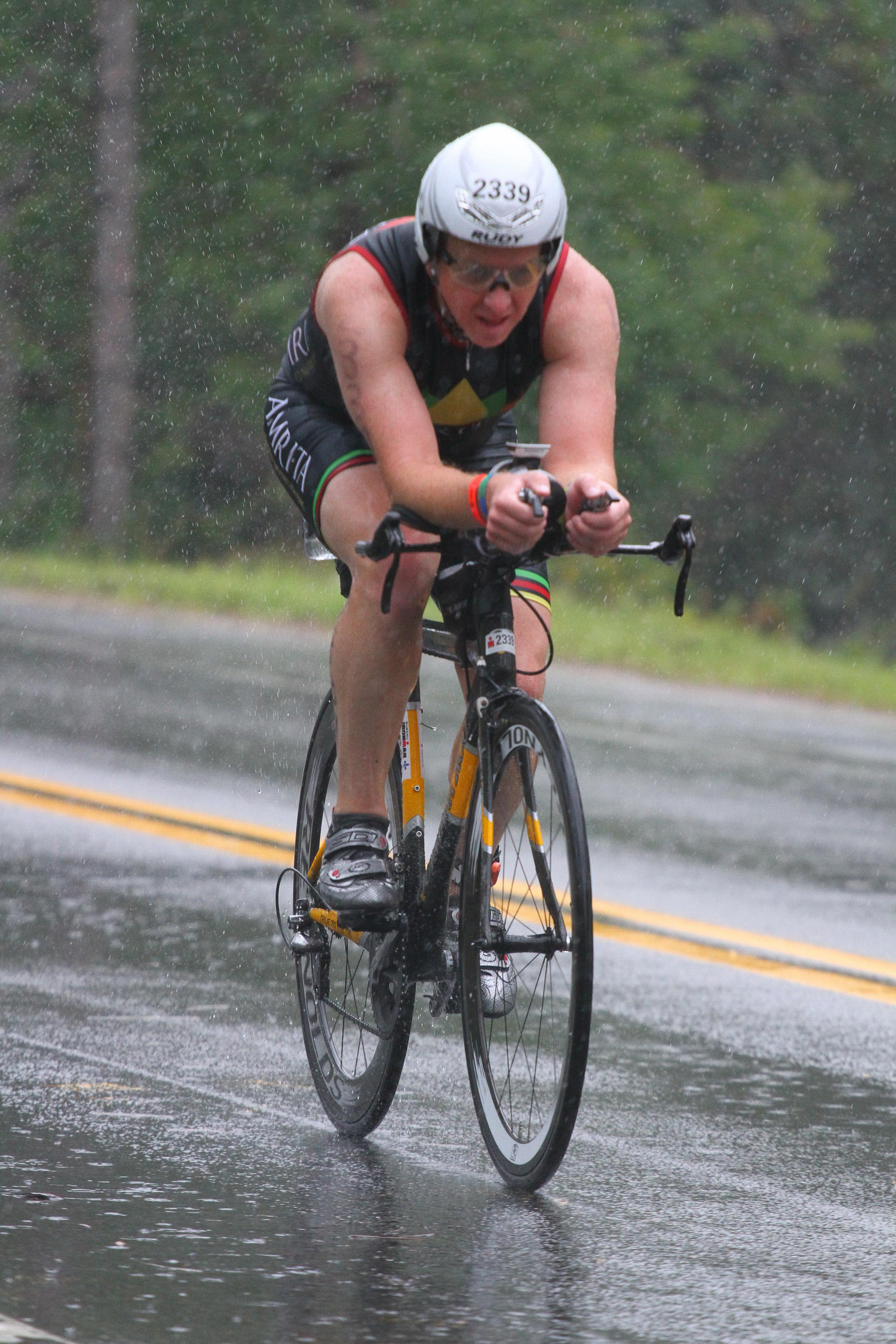 Ironman Mont-Tremblant 2016 - Bike - Torrential Rains pounded almost the entire bike ride.